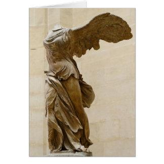Victoria coa alas de Samothrace Tarjeta Pequeña