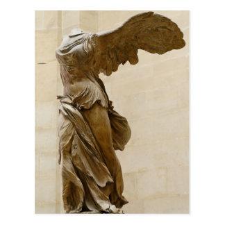 Victoria coa alas de Samothrace Tarjeta Postal