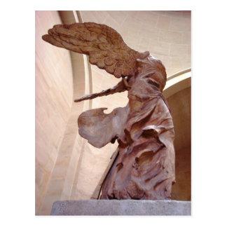 Victoria coa alas de Samothrace Postal