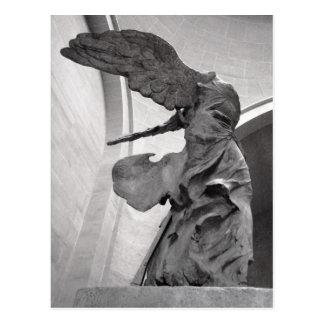 Victoria coa alas estatua griega de Samothrace Nik Tarjetas Postales