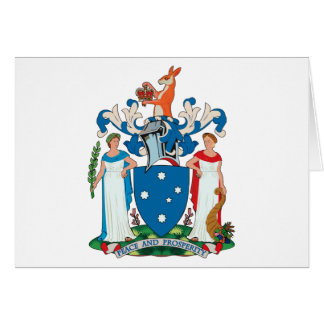 Victoria Coat of Arms Greeting Card