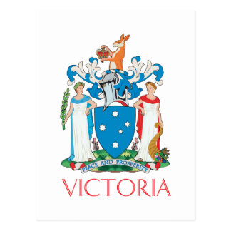 Victoria coat of arms post card