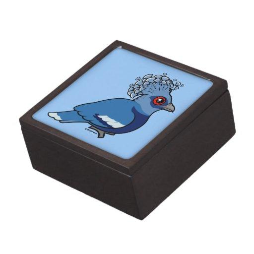 Victoria coronó la paloma caja de joyas de calidad