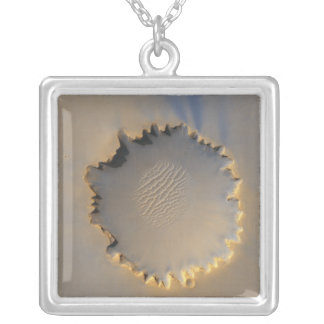 Victoria Crater on Mars Square Pendant Necklace