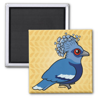 Victoria Crowned Pigeon 2 Inch Square Magnet