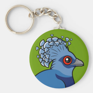 Victoria Crowned Pigeon Keychain