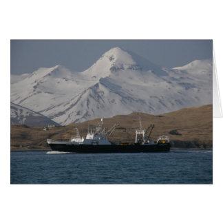 Victoria de Alaska, barco rastreador de fábrica Tarjeta De Felicitación