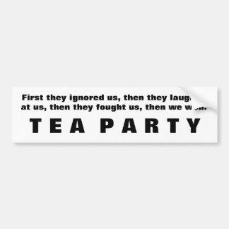 Victoria de la fiesta del té pegatina para auto