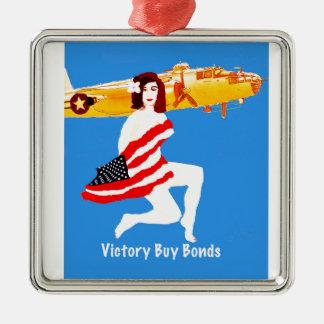 Victoria de la guerra mundial 2 ornamento para arbol de navidad