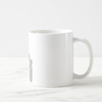 Victoria de la muestra de la mano taza de café