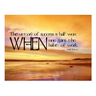 Victoria de la postal de motivación del éxito