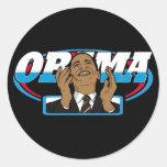 Victoria de Obama Pegatina Redonda