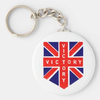 Victoria de WWII Union Jack Llavero Redondo Tipo Pin