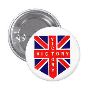 Victoria de WWII Union Jack Pin Redondo De 1 Pulgada