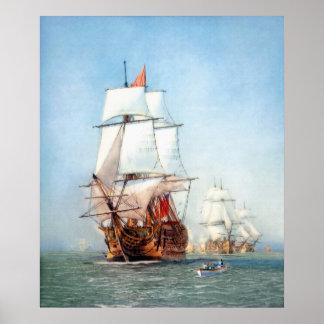 Victoria del buque de guerra posters