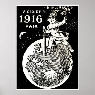 Victoria del francés de WWI Póster