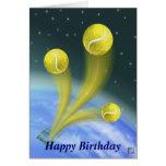Victoria del tenis, feliz cumpleaños tarjetón