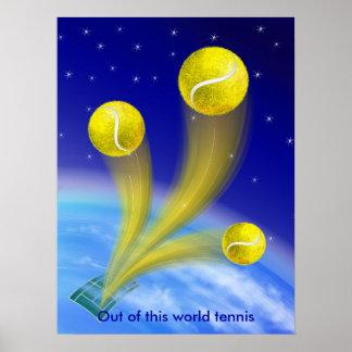 Victoria del tenis personalizada posters