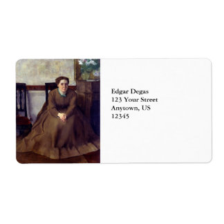 Victoria Dubourg by Edgar Degas Label