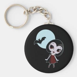 Victoria el vampiro llavero redondo tipo pin