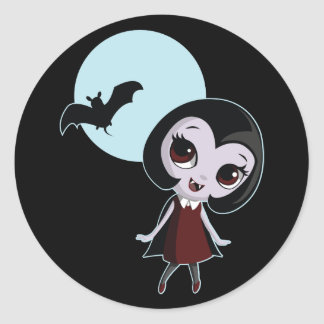 Victoria el vampiro pegatina redonda