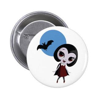Victoria el vampiro pin redondo de 2 pulgadas