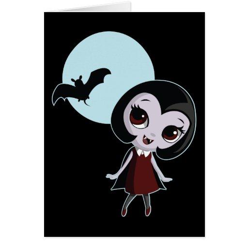 Victoria el vampiro tarjeta de felicitación
