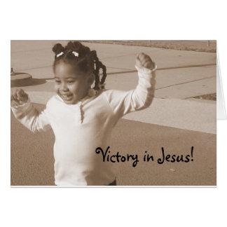 ¡Victoria en Jesús! Tarjeta De Felicitación
