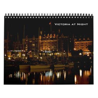 Victoria en la noche calendario de pared