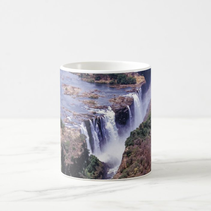 Victoria Falls Aerial View Zimbabwe Africa Coffee Mug Zazzle Com