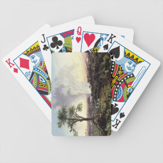 Victoria Falls at Sunrise, with 'The Smoke', or 'S Bicycle Playing Cards