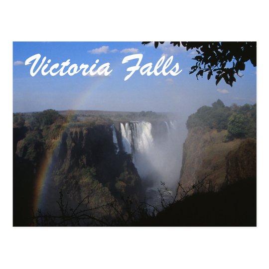 Victoria Falls Travel Postcad Postcard