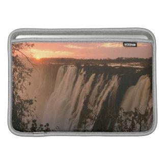 Victoria Falls with sun on horizon, Victoria MacBook Sleeve