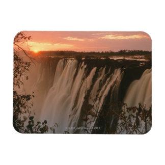 Victoria Falls with sun on horizon, Victoria Magnet