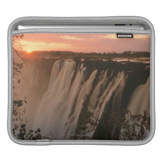 Victoria Falls with sun on horizon, Victoria Sleeve For iPads