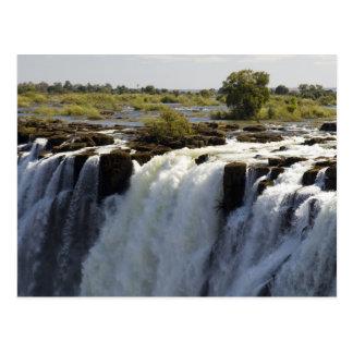 Victoria Falls, Zambesi River, Zambia. 2 Postcard