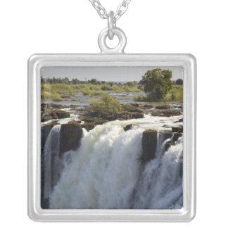 Victoria Falls, Zambesi River, Zambia. 2 Silver Plated Necklace