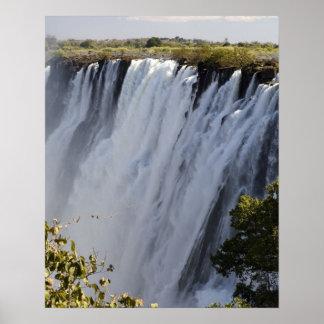 Victoria Falls, Zambesi River, Zambia. Poster
