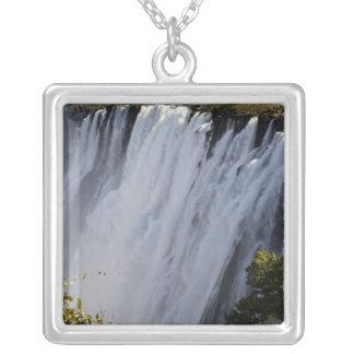 Victoria Falls, Zambesi River, Zambia. Silver Plated Necklace