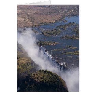 Victoria Falls, Zambesi River, Zambia - Zimbabwe Greeting Card