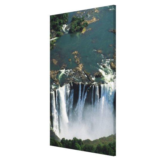 Victoria Falls, Zambia to Zimbabwe border. The Canvas Print