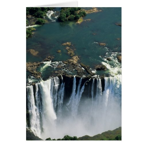 Victoria Falls, Zambia to Zimbabwe border. The Greeting Card