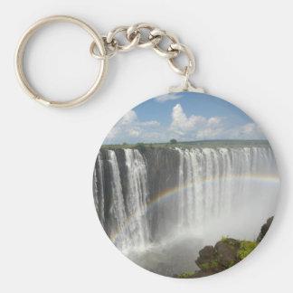 Victoria Falls Zimbabwe Basic Round Button Keychain
