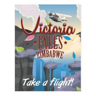 Victoria Falls Zimbabwe cartoon poster Postcard