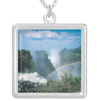 Victoria Falls, Zimbabwe Silver Plated Necklace