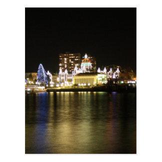 Victoria Harbour Lights Postcard
