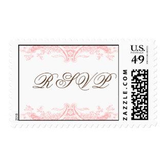 Victoria in Blush RSVP Stamp