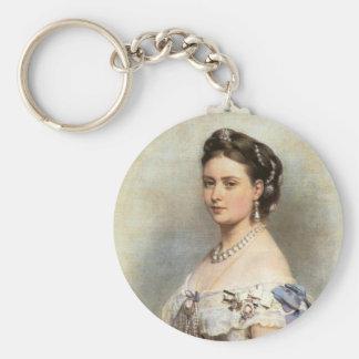 Victoria, la Princesa Real Llavero Redondo Tipo Pin