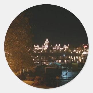 Victoria Night Classic Round Sticker