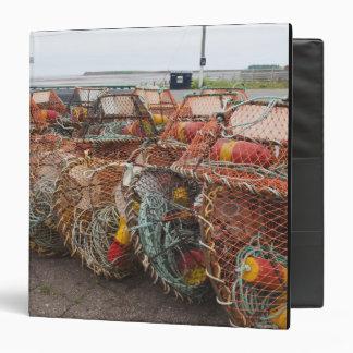 Victoria, Prince Edward Island. Crab pots Vinyl Binders